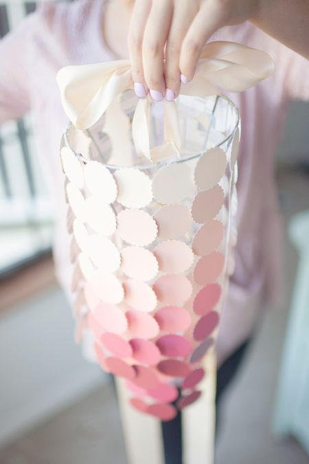 Pink-paint-swatch-chandelier