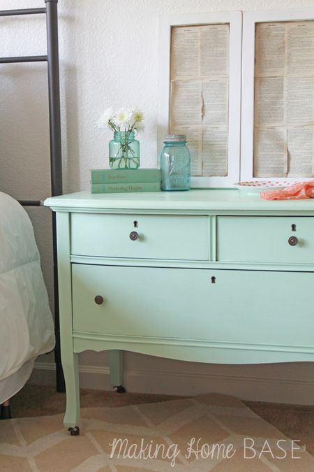 Making-home-base-mint-painted-nightstand
