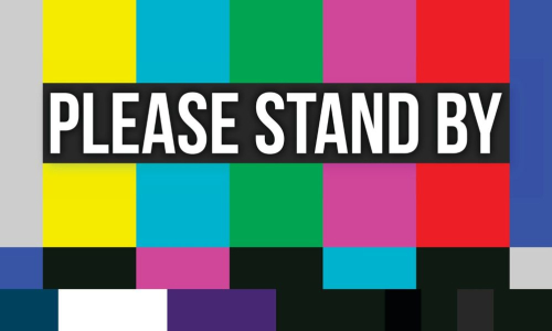 Please-stand-by-color-error-screen-vector-id672634526
